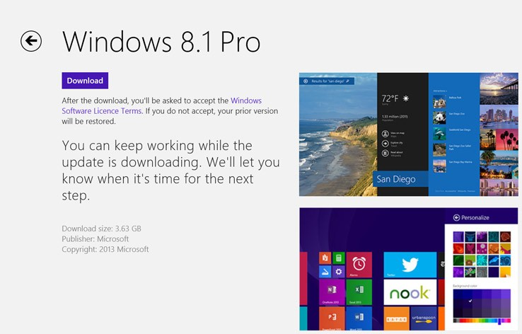 Update Windows 8.1