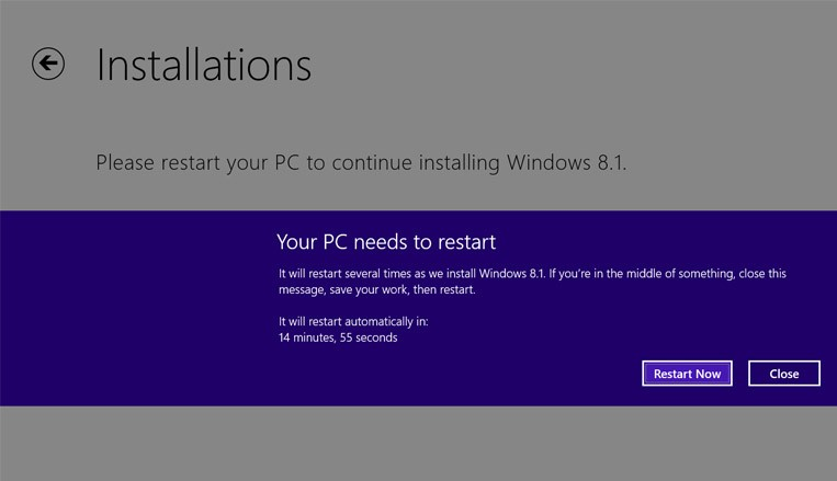 Windows 8.1 Restart