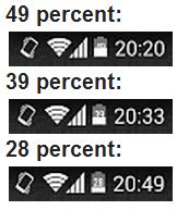 Battery Percentage Status
