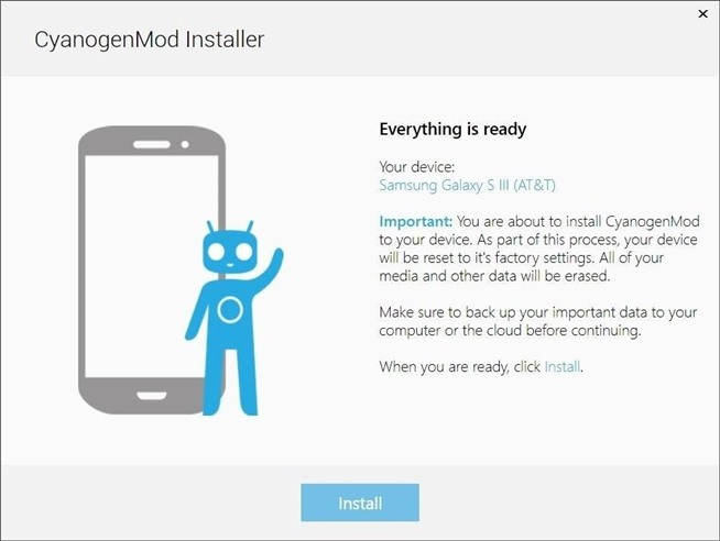 Cyanogenmod-Installer ROM ready
