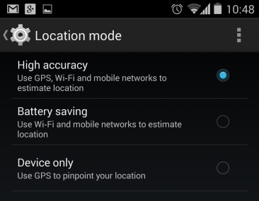 Enable Battery Saving GPS mode