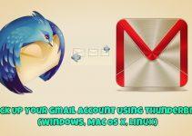 Backup Gmail Account on Thunderbird