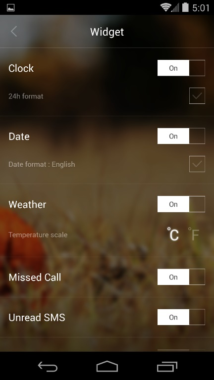 Lockscreen Widgets