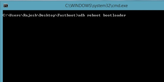 Adb reboot bootloader command