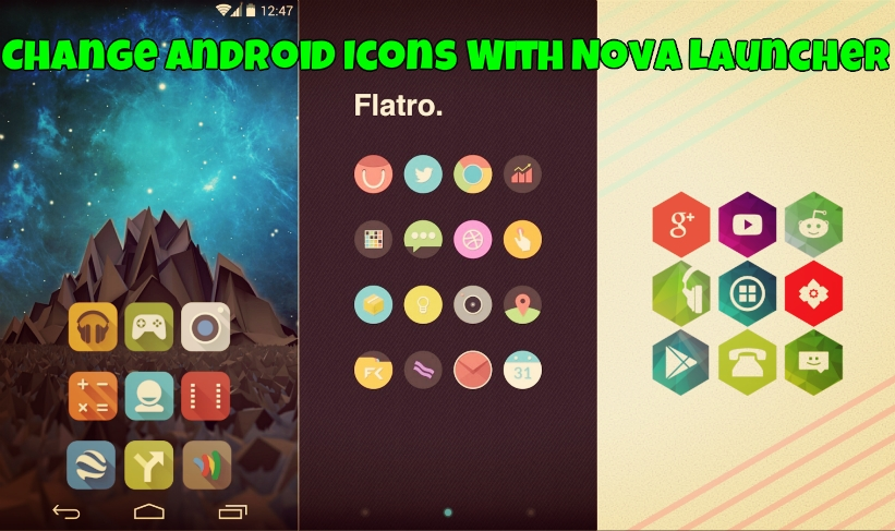 Change Android Icons