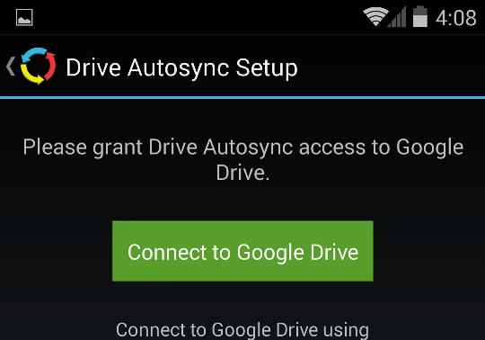 Connect Google drive Account