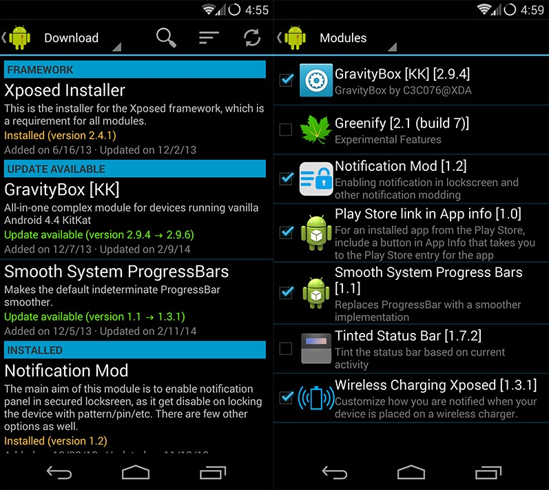 Tweak Android Settings with GravityBox Xposed Module