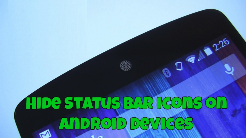 Clean up Your Status Bar by Hiding Icons