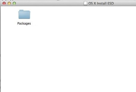 OS X Packages Folder
