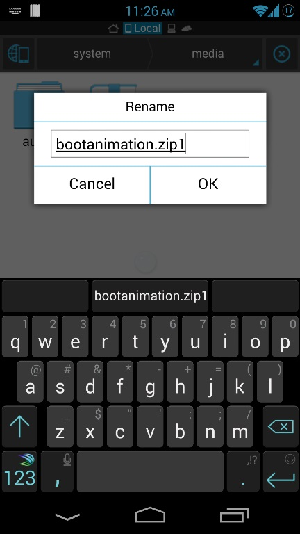Rename bootanimation