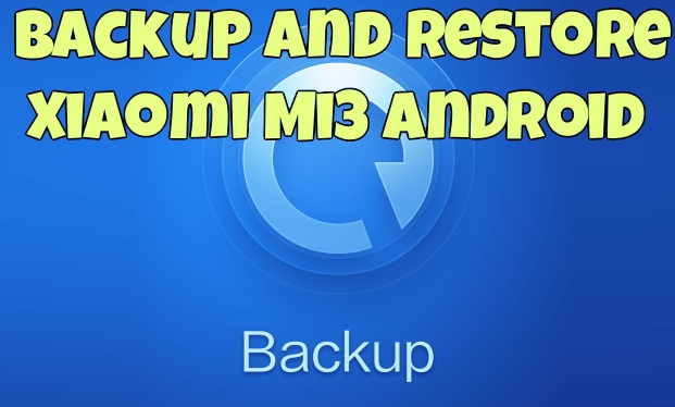 Backup and Restore Xiaomi Mi3 Android