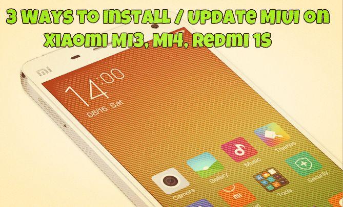 Install  Update MIUI on Xiaomi