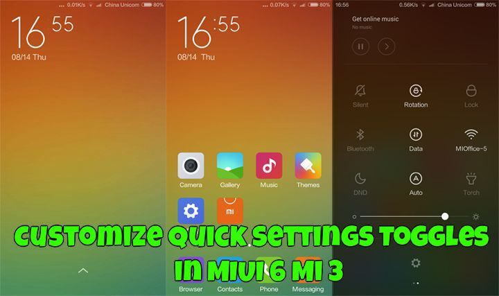 Customize Quick Settings Toggles in MIUI 6 Mi 3