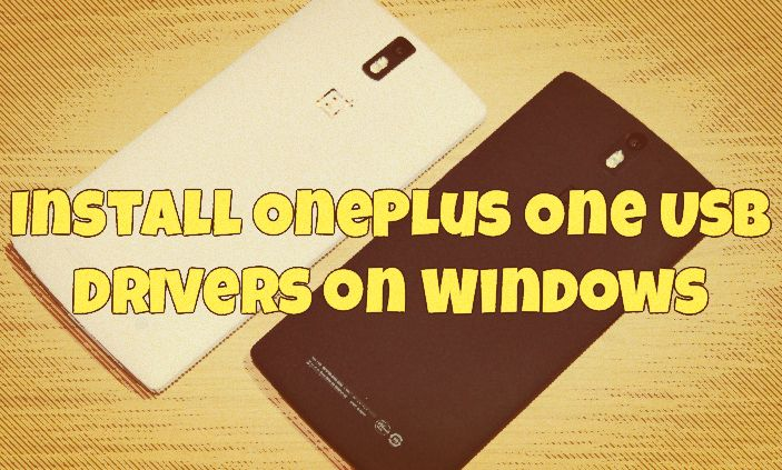 One Plus Usb Driver