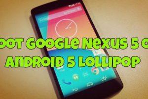 Root Google Nexus 5 on Android 5 Lollipop
