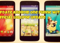 Update Android One Phone with Official Lollipop Update