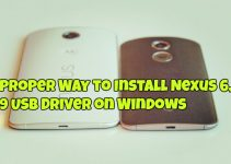 Proper Way to Install Nexus 6, 9 USB Driver on Windows