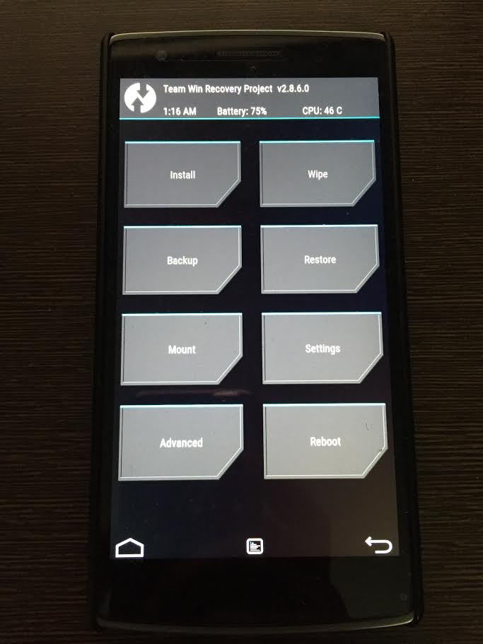 TWRP recovery Oneplus one