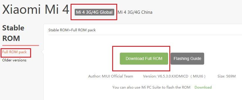 Mi4-MIUI-ROM