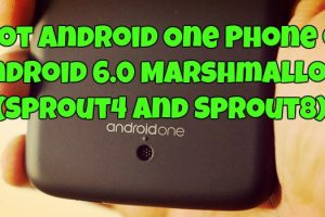 Root Android One Phone on Android 6.0 Marshmallow (Sprout4 and Sprout8)