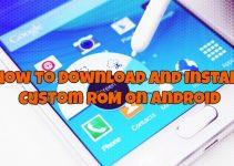 Install Custom ROM