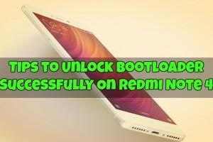 Unlock Bootloader Redmi Note 4