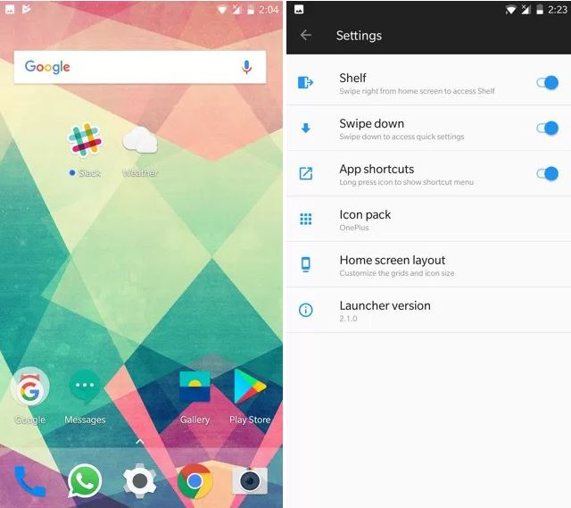 Download OnePlus Launcher 2 1 & Weather App From Oxygen OS