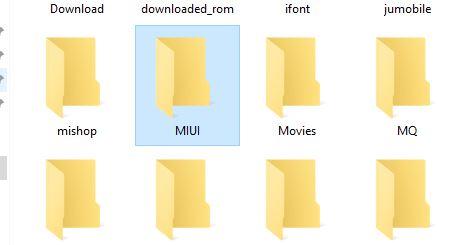 MIUI folder