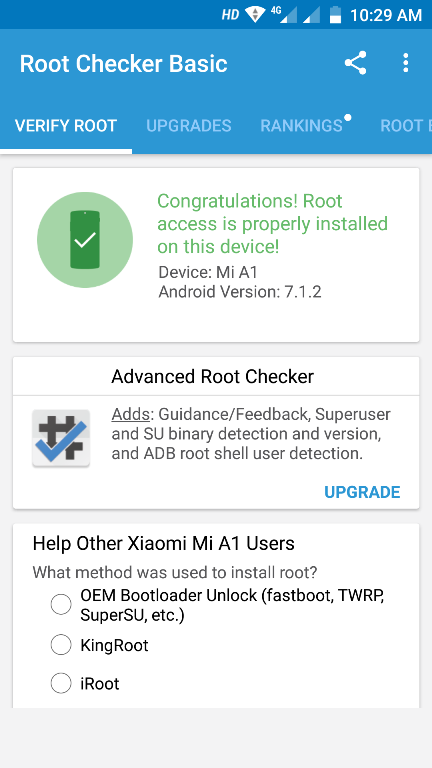 Root Mi A1 Android One