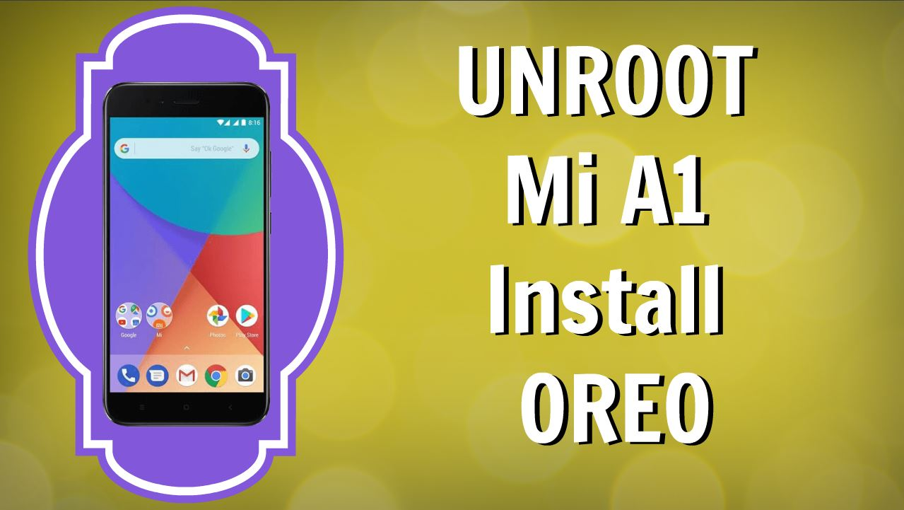 how to keep stock backup mi a1