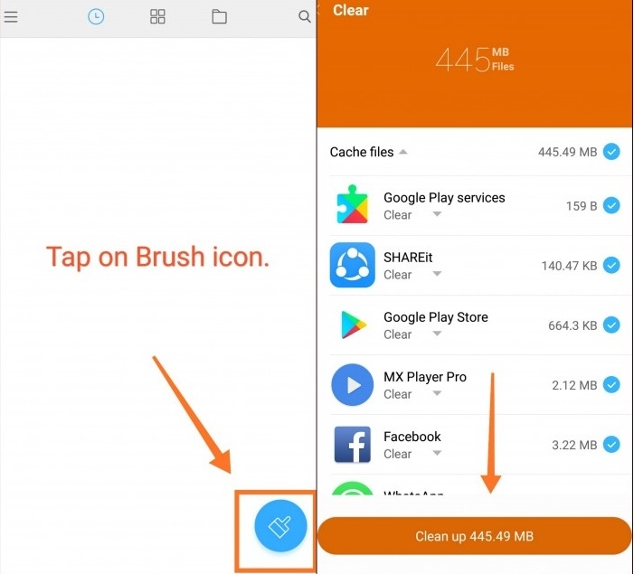 Clear Cache and Junk Using Mi Explorer