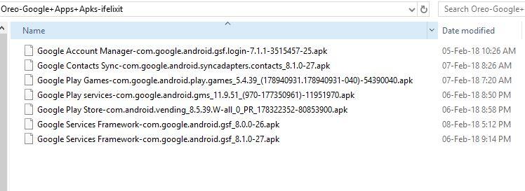 MIUI 9 Google Apps APK Files