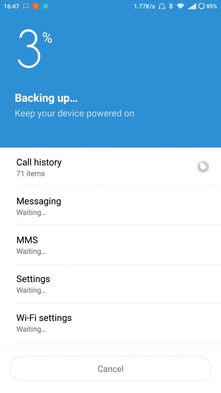 Xiaomi Backup