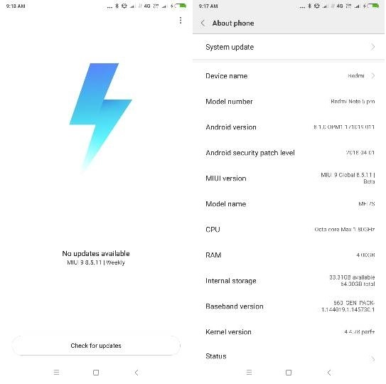 Redmi Note 5 Pro Android 8.1 OREO ROM