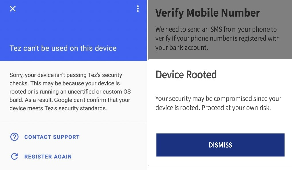 Use Banking Apps, PayTm, Google Pay, Tez on Rooted Android Phones