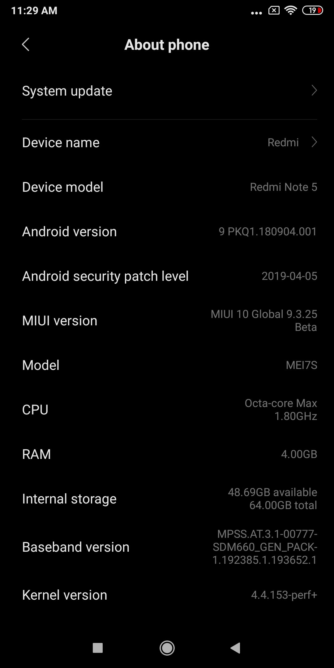 Download Redmi Note 5 Pro Android Pie MIUI 10 9 6 27 Beta Update
