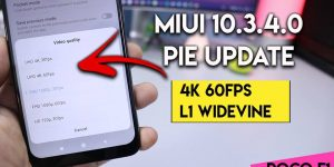 MIUI 10.3.4.0 Pie Global Update