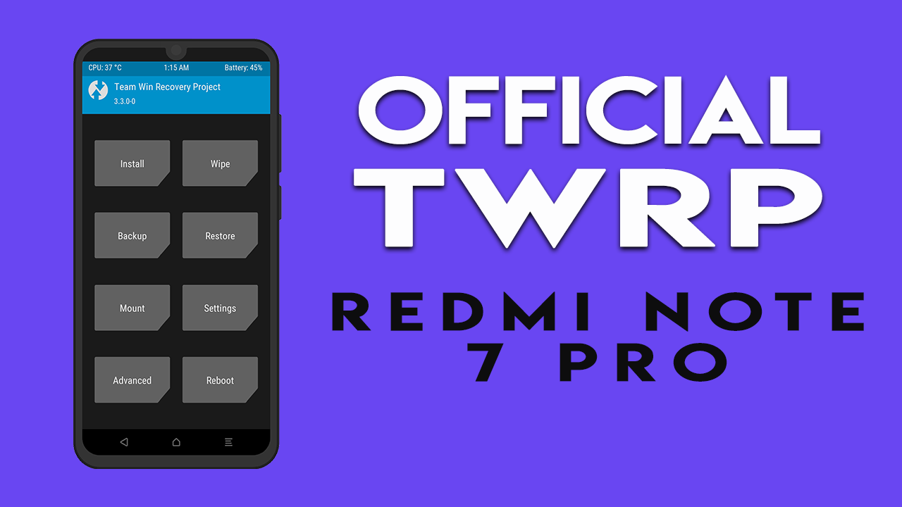 TWRP on Redmi Note 7 Pro