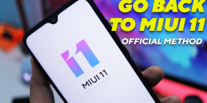 Downgrade MIUI 12 to MIUI 11